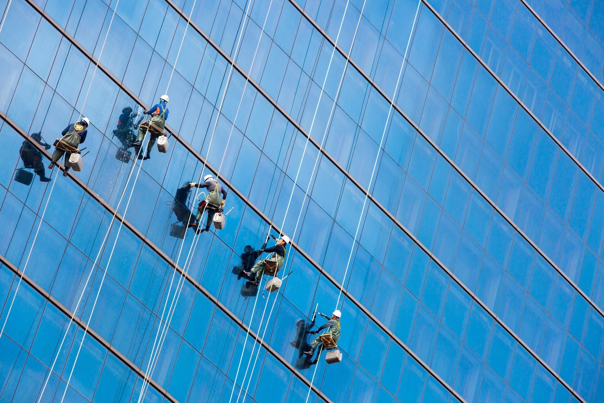 High Rise Window Washers Seoul Korea